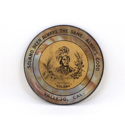 Solano Indian Chief Vallejo Tip Tray
