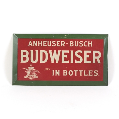 Anheuser-Busch Budweiser In Bottles Small Pre-Proh TOC Sign