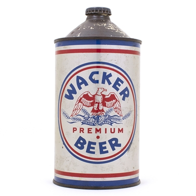 Wacker Quart Cone Top Beer Can