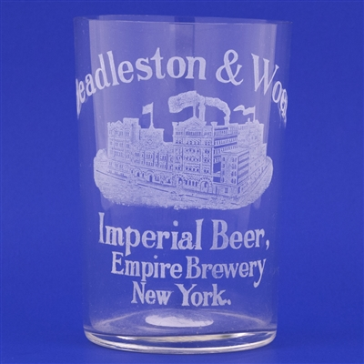 Beadleston & Wood Pre-Prohibition Etched Drinking Glass
