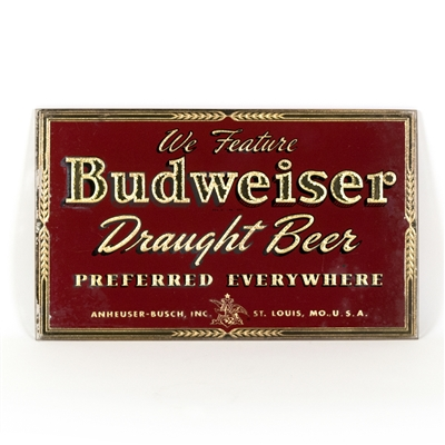 Budweiser Draught Beer RPG Sign