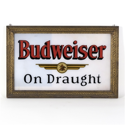 Budweiser On Draught Framed RPG Sign