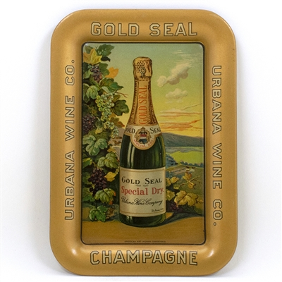 Urbana Wine Gold Seal Champagne Tip Tray