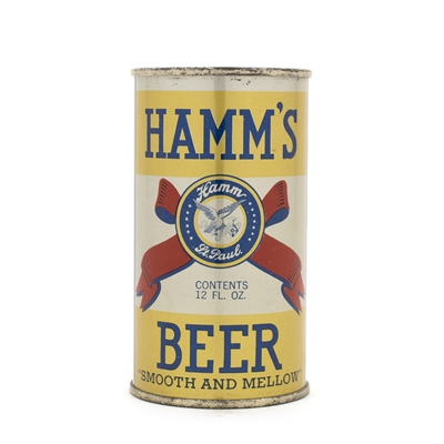 Hamm's Opening Instruction Flat Top Beer Can