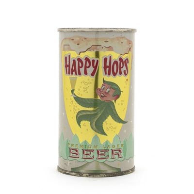 Happy Hops Beer Flat Top Beer Can