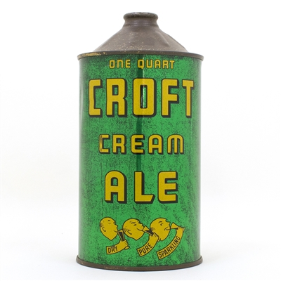 Croft Cream Ale Quart Cone Top Can