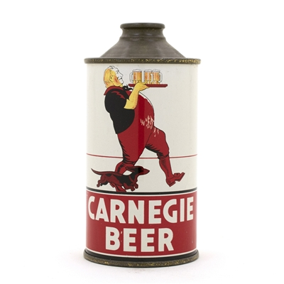 Carnegie Beer Low Profile Cone Top Beer Can