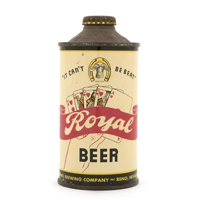 Royal Beer Cone Top Royal Flush Can