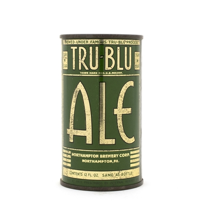 Tru Blu Ale Opening Instruction Flat Top Can
