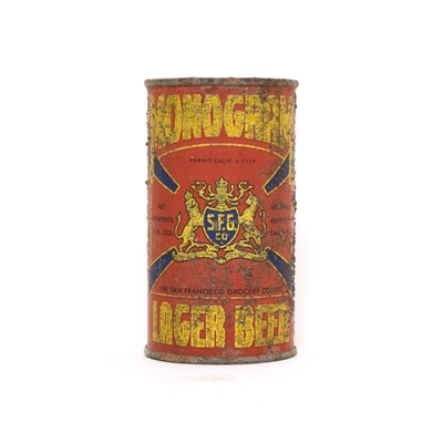 Monogram Lager Beer Can 536