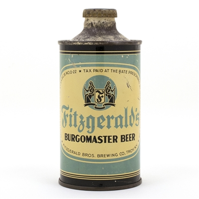 Fitzgerald Burgomaster Cone Top Beer Can