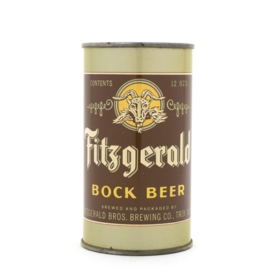 Fitzgerald's Bock Beer Flat Top Beer Can