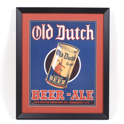 Old Dutch Beer Ale Can Sign