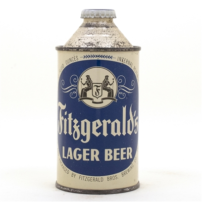Fitzgeralds Lager Cone Top Beer Can