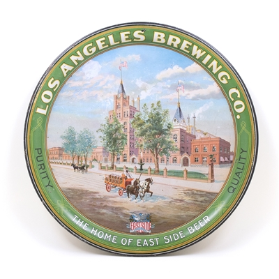 Los Angeles Brewing Co. Pre-Prohibition Factory Scene Serving Tray