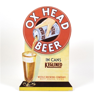 Ox Head Beer Can Diecut Sign