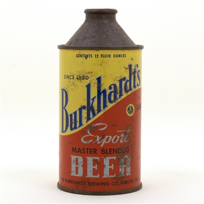Burkhardts Export Cone Top Beer Can