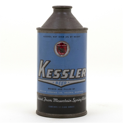 Kessler Cone Top Beer Can