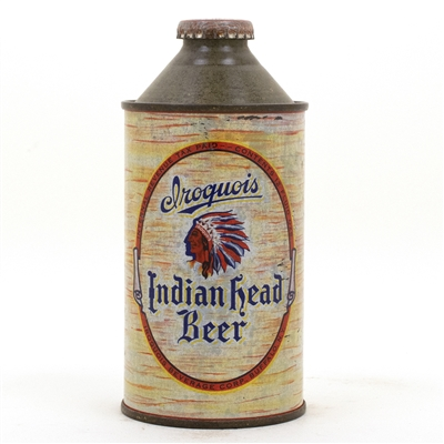 Iroquois Indian Head Cone top Beer Can