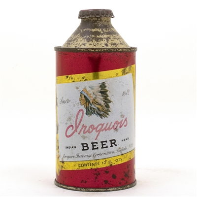 Iroquois Cone Top Beer Can