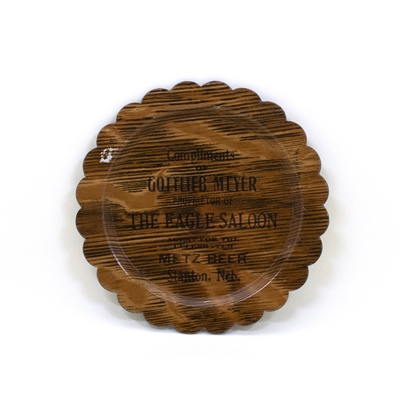 Gottlieb Meyer Eagle Saloon Metz Beer Tip Tray