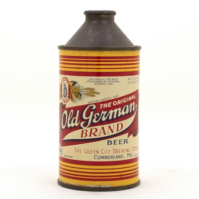 Old German Cone Top Beer Can