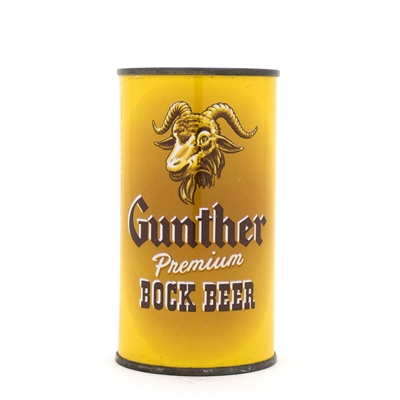 Gunther Bock Beer Flat Top Beer Can