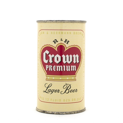 R&H Crown Premium Beer Flat Top Can