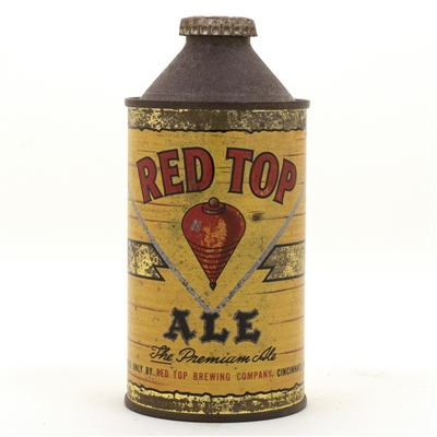 Red Top Cone Top Beer Can