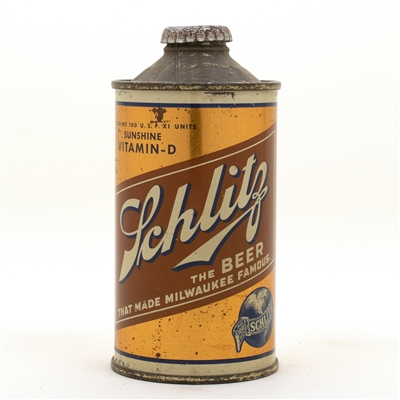 Schlitz Vitamin D Cone Top Beer Can