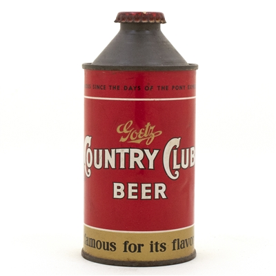 Goetz Country Club Cone Top Beer Can