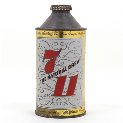7-11 Cone Top Beer Can