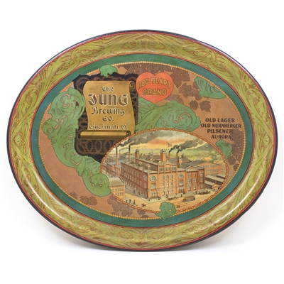 Jung Brewing Factory Scene Pre-Prohibition Tray