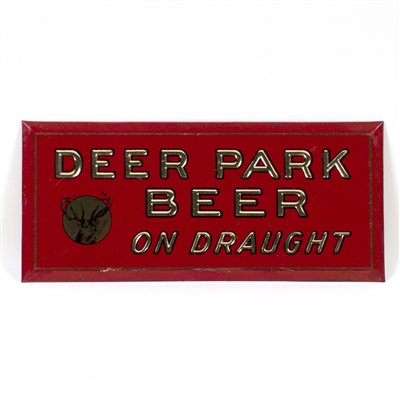 Deer Park Beer On Draught TOC Sign