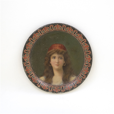 Unique Unmarked Victorian Lady Tip Tray