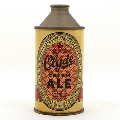 Clyde Cream Ale Cone Top Beer Can