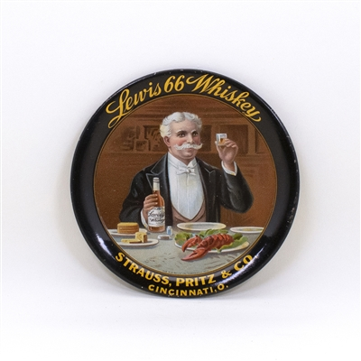 Lewis 66 Whiskey Strauss Pritz Tip Tray