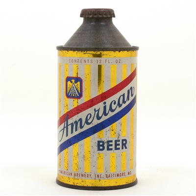 American Beer Cone Top Beer Can