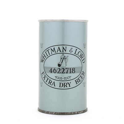 Whitman & Lord Pull Tab Beer Can
