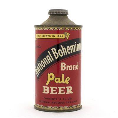 National Bohemian Brand Beer Low Profile Cone Top