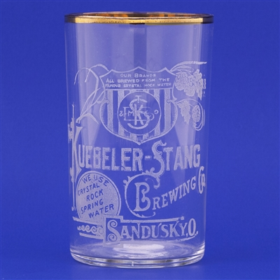 Keubler-Stang Pre-Prohibition Etched Drinking Glass