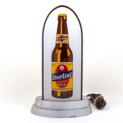 Sterling Beer Cathedral Style Lighted Sign