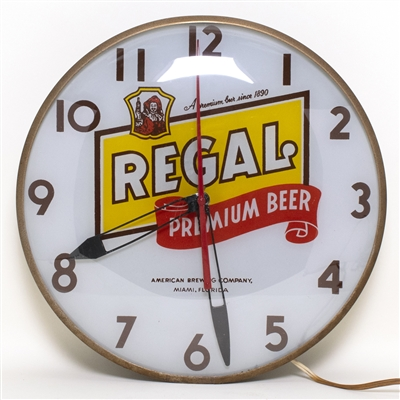 Regal Premium Beer Lighted Clock