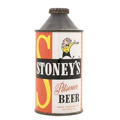 Stoney's Beer High Profile Cone Top Can