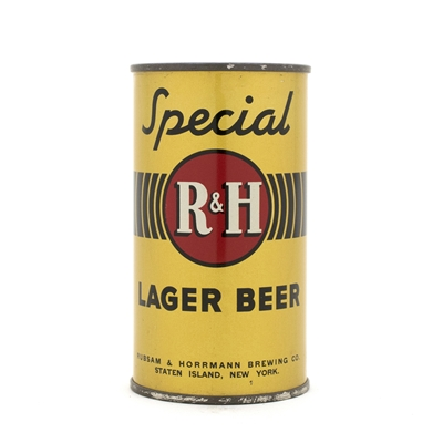 R&H Special Beer Flat Top Can