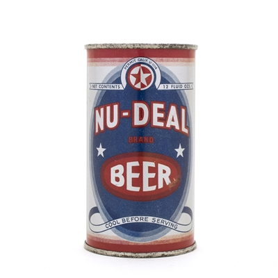 Nu-Deal Beer Opening Instruction Flat Top Can