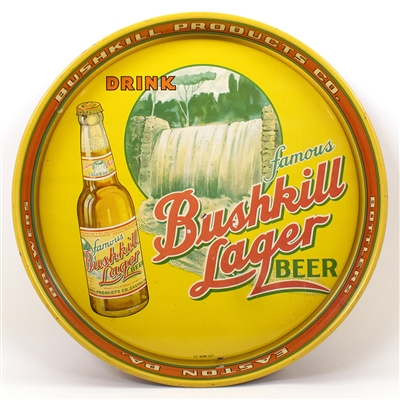 Bushkill Lager Advertising Beer Tray