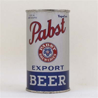 Pabst Export Beer Instructional Flat Top Can