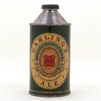 Carlings Ale Cone Top Beer Can