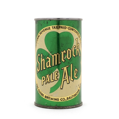 Shamrock Pale Ale Flat Top Beer Can